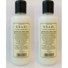 Khadi Natural™ Herbal Greentea & Aloevera Hair Conditioner (Set of 2)