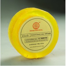 Khadi Natural™ Lemon & Honey Loofah Soap (SLS/Paraben Free)