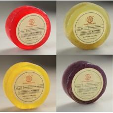 Khadi Natural™ Loofah Soap Combo(Kiwi+Lavender+Lemon& Honey+Rose&Honey) Set of 4