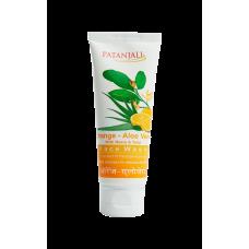 Patanjali Orange aloevera face wash, 60gm