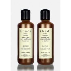 Khadi Natural™ Herbal Henna Tulsi Extra Conditioning Shampoo- SLS & Paraben Free (Set of 2)