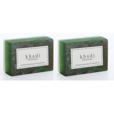 Khadi Natural™ Herbal Basil Scrub Soap(Set of 2)