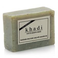 Khadi Natural™ Mint & Sesame Seeds Soap