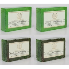Khadi Natural™ Soap Combo (Neem Tulsi Soap[2]+ Basil Scrub[2])