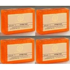Khadi Natural™ Herbal Orange Soap (Set of 4)