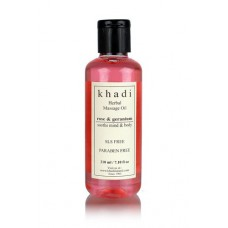 Khadi Natural™ Rose & Geranium Massage oil (Soothes Mind & Body )- Without Mineral Oil