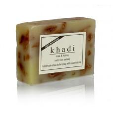 Khadi Natural™ Rose & Honey With Rose Petals Soap