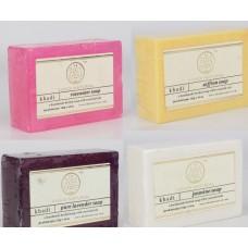 Khadi Natural™ Soap Combo (Rosewater Soap[1] + Saffron Soap[1] + Pure Lavender Soap[1] + Jasmine Soap[1])