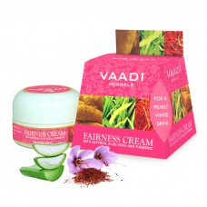 Vaadi Herbals Fairness Cream, Saffron, Aloe Vera and Turmeric Extracts( set of 3 piece, 3x30g)