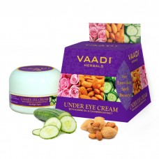 Vaadi Herbals Under Eye Cream, Almond Oil and Cucumber Extract( set of 3 piece, 3x30g)