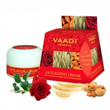 Vaadi Herbals Value Anti Ageing Cream, Almond Wheatgerm Oil and Rose ( set of 3 piece, 3x30g)